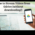 how to stream video from google drive without downloading