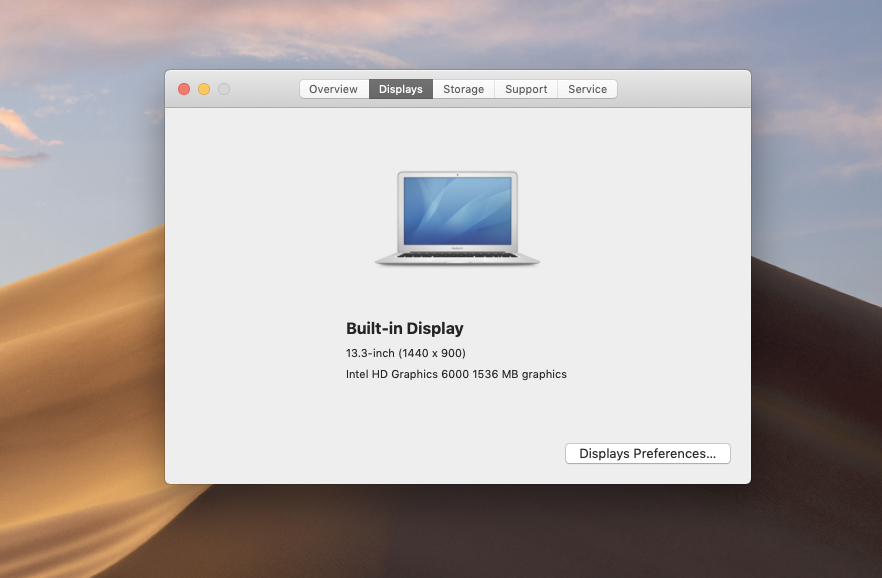 how to check computer specs MacOs