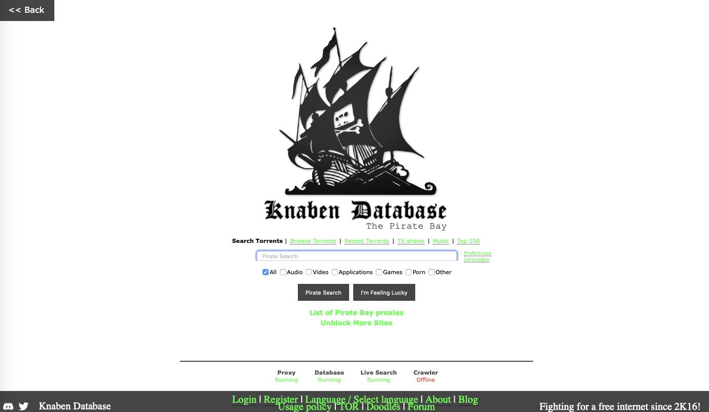 the pirate bay EZTV's proxy alternative