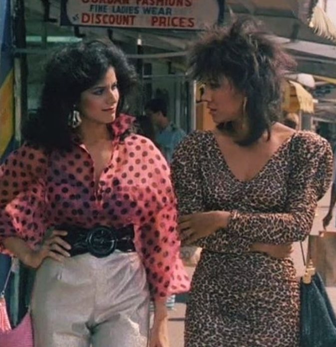 Miami Vice Gina and Trudy with Fashion trends