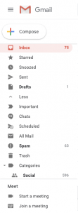 what does queued email in gmail means
