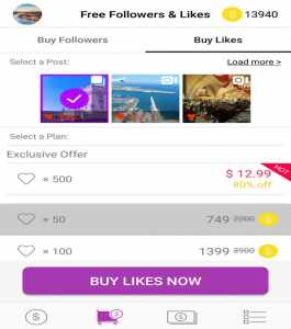Getinsta like followers with place